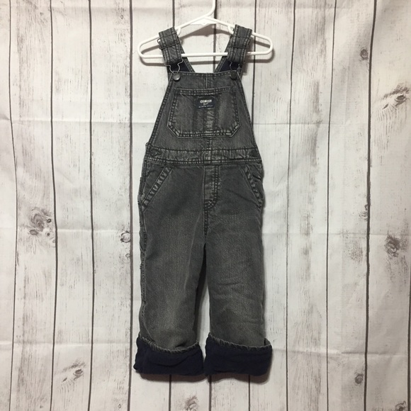 OshKosh B'gosh Other - Oshkosh Overalls Boys 3T Fleece-Lined Vestbak Gray